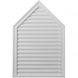 12W x 32H x 1 3/4P Peaked Gable Vent - Decorative