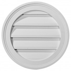 12W x 12H Round Gable Vent Louver Decorative