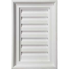 12W x 18H Vertical Gable Vent Louver Decorative
