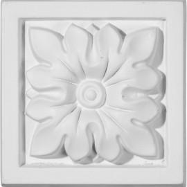 3 1/2W x 3 1/2H x 1 1/4P Floral Plinth Block