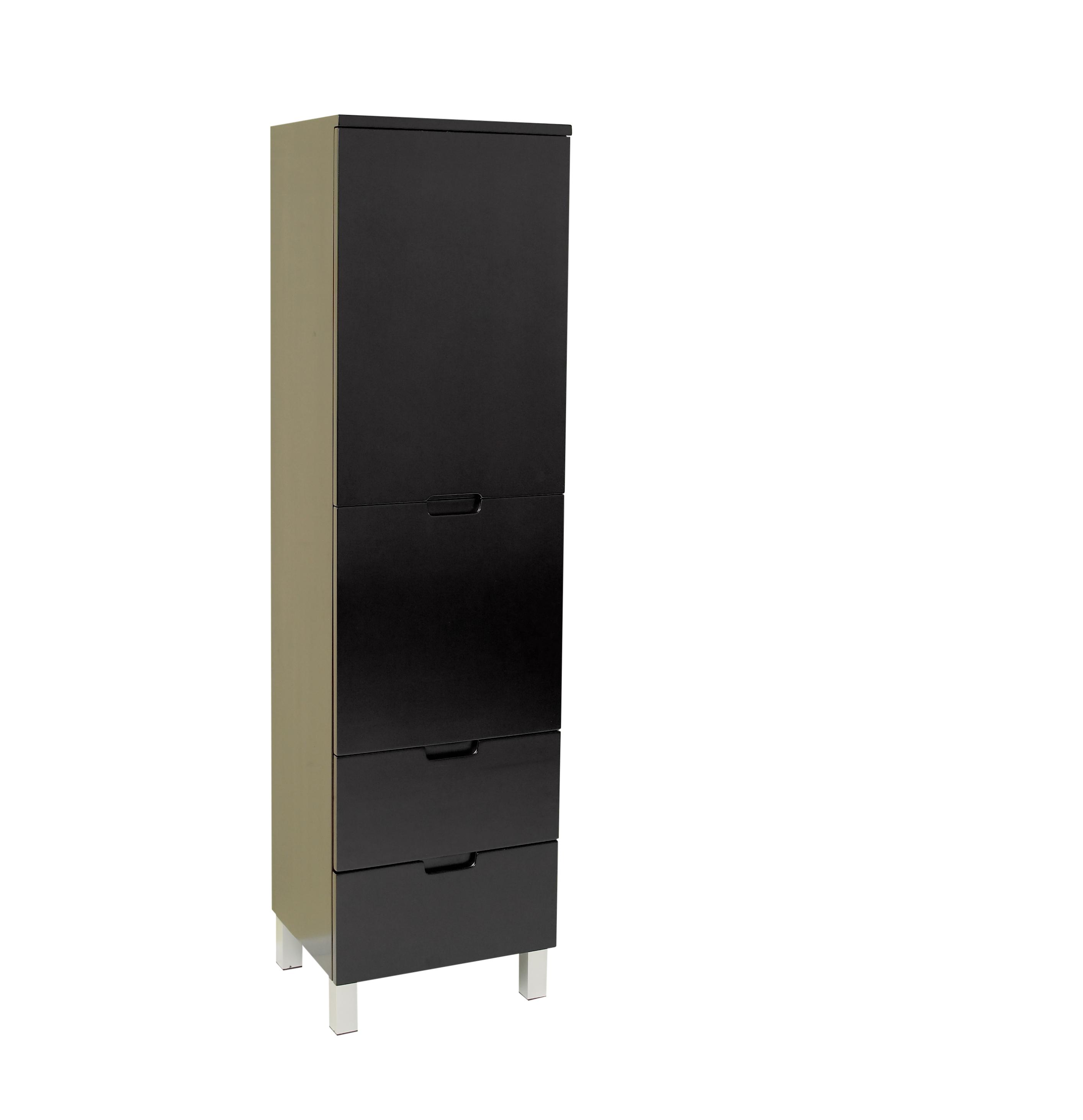 fresca espresso bathroom linen side cabinet w 4 storage areas