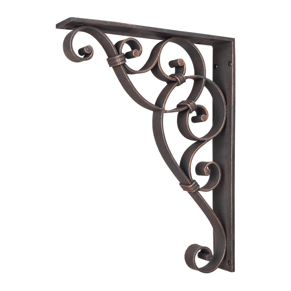 Mcor9 Dbac Metal Iron Scroll Bracket Knot Detail