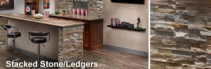 Stacked Stone Ledger Panels