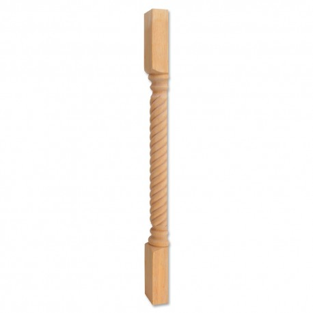 P3S Wood Post with Rope Pattern
