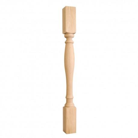 P1-3 Turned Wood Post (Island Leg)