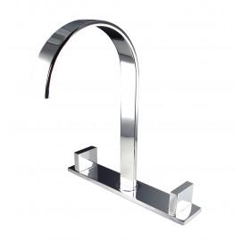 Fresca Sesia Widespread Mount Bathroom Vanity Faucet - Chrome