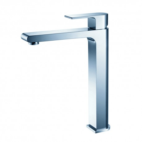 Fresca Allaro Single Hole Vessel Mount Bathroom Vanity Faucet - Chrome