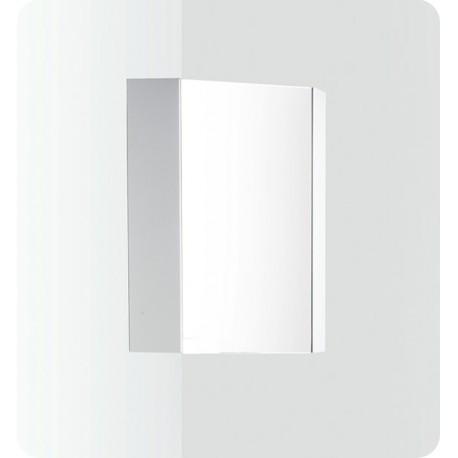 "Fresca Coda 18"" White Corner Medicine Cabinet w/ Mirror Door"