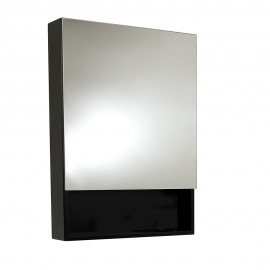 Fresca Small Espresso Bathroom Medicine Cabinet w/ Small Bottom Shelf