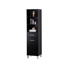 Fresca Espresso Bathroom Linen Side Cabinet w/ 3 Open Shelves