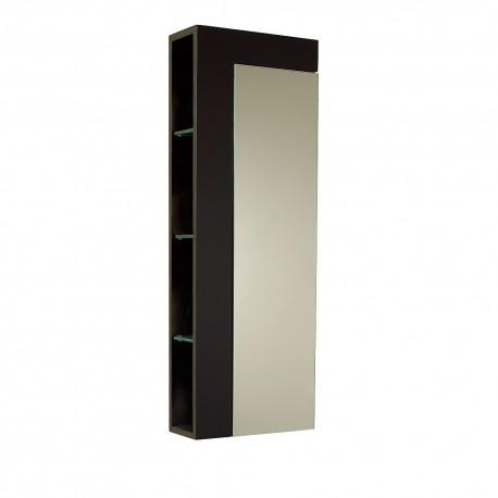 Fresca Espresso Bathroom Linen Side Cabinet w/ Large Mirror Door