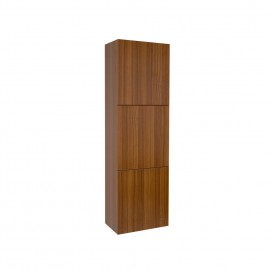 Fresca Teak Bathroom Linen Side Cabinet w/ 3 Large Storage Areas