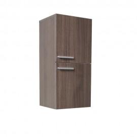 Fresca Gray Oak Bathroom Linen Side Cabinet w/ 2 Storage Areas