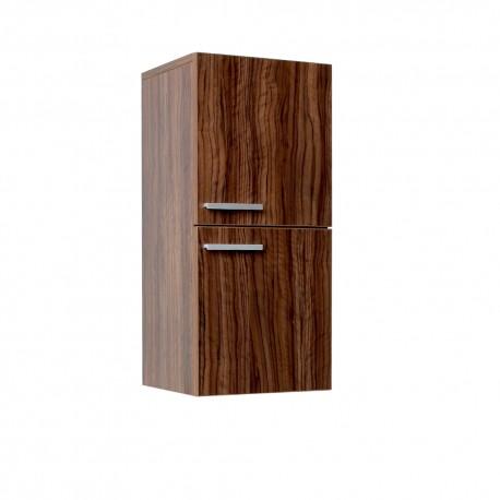 Fresca Walnut Bathroom Linen Side Cabinet w/ 2 Storage Areas