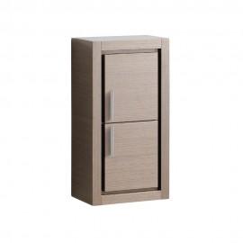 Fresca Gray Oak Bathroom Linen Side Cabinet w/ 2 Doors