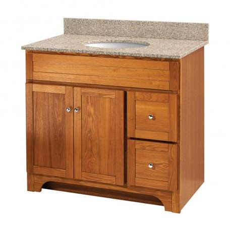 WORTHINGTON 36 INCH OAK BATHROOM VANITY - Burroughs Hardwoods Online ...
