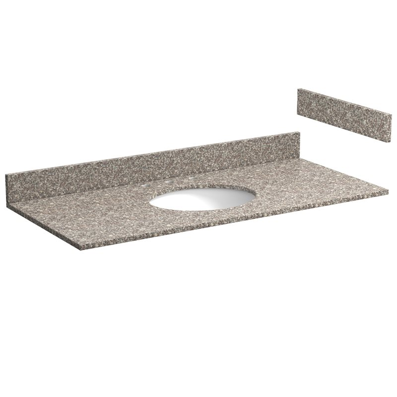 49 Inch Burlywood Granite Vanity Top With Pre Attached Vitreous