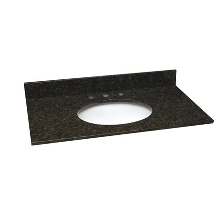 37 Inch Ubatuba Granite Vanity Top With Pre Attached Vitreous China Sink