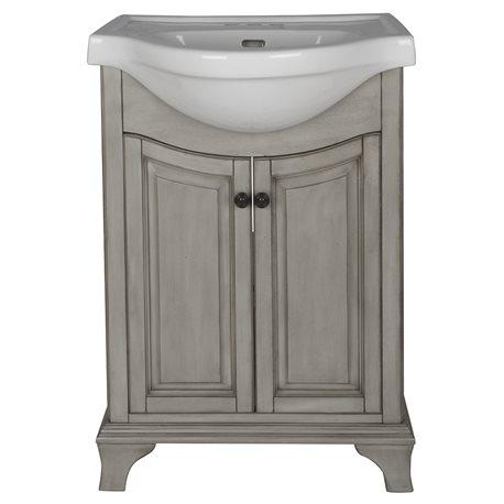 CORSICANA EURO VANITY COMBO Antique Grey Finish - Antique grey bathroom vanity