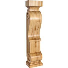 FCOR21 Scandinavian Romanesque Wood Fireplace Mantel Corbel