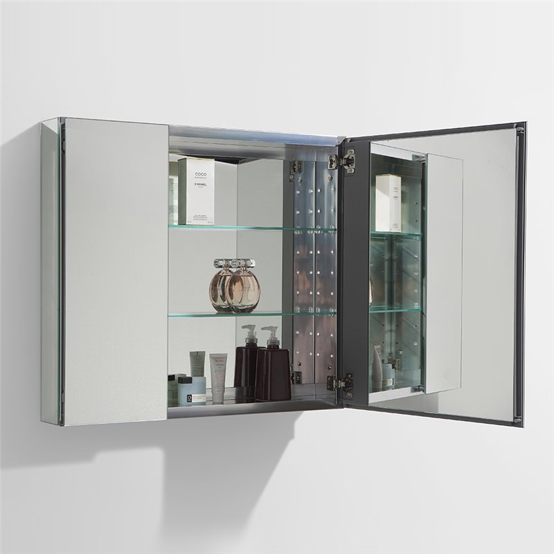 "Fresca 30"" Wide Bathroom Medicine Cabinet w/ Mirrors ..."