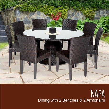 Napa 60 Inch Outdoor Patio Dining Table