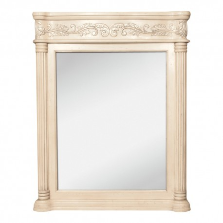 MIR011 Antique white mirror