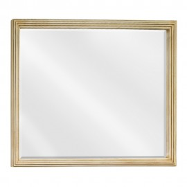 MIR028-48 Large Buttercream reed-frame mirror