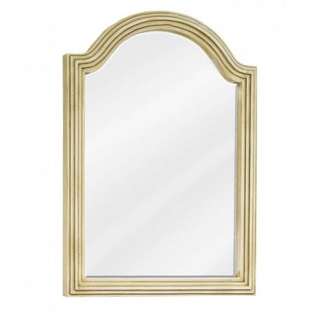 MIR028D-60 Buttercream reed-frame mirror