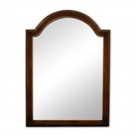 MIR029 Walnut reed-frame mirror