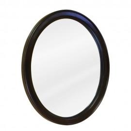 MIR056 Espresso oval mirror