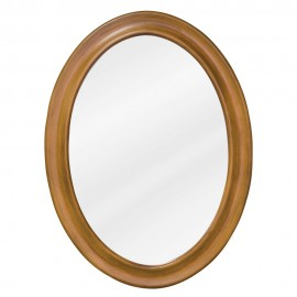 MIR060 Warm caramel oval mirror