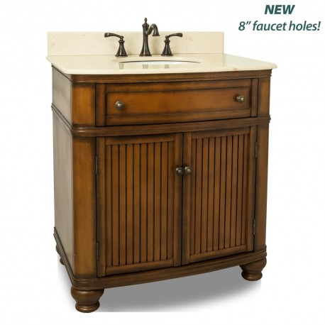 "VAN029-T-MC Compton Walnut 32"" Single Vanity"