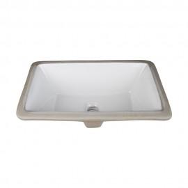 H8909WH Undermount Porcelain Rectangle Sink Basin