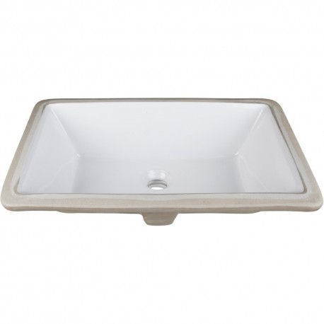 H8910WH Undermount Porcelain Rectangle Sink Basin
