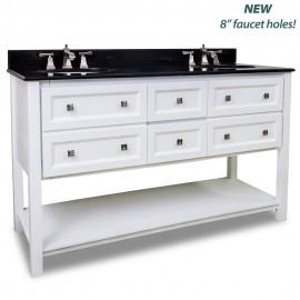 """Adler Collection 60"""" Inch Double Bathroom Vanity - VAN066D-60-T"""