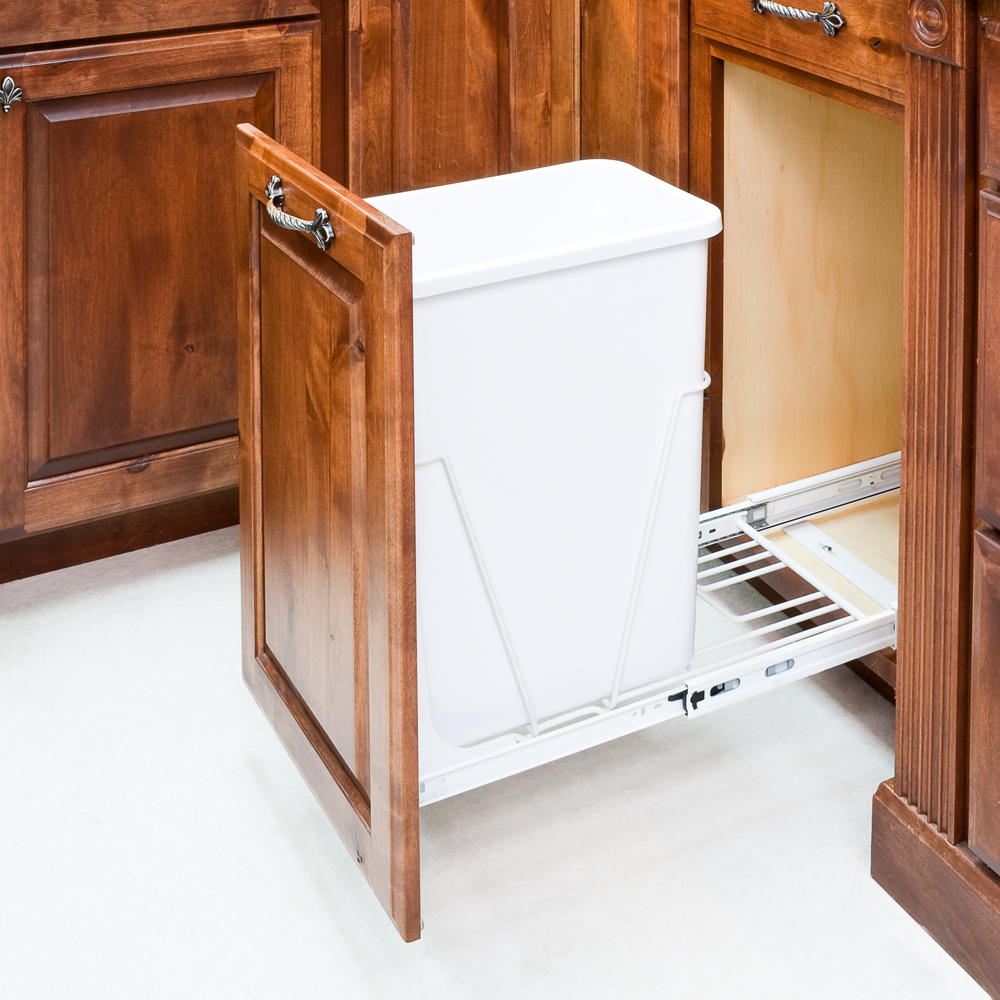 35 Or 50 Quart Single Pullout Waste Container System